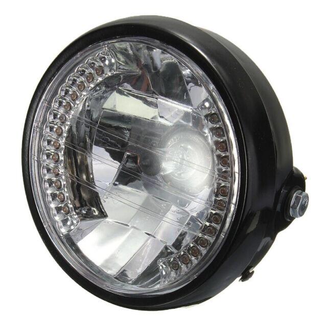 7 pouces phare de moto rond halogene lampe H4 ampoule phare pour HARLEY BOB G4D6
