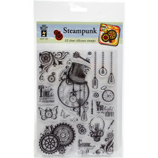 """""""Hot Off The Press Acrylic Stamps 6""""""""X8""""""""-Steampunk"""""""