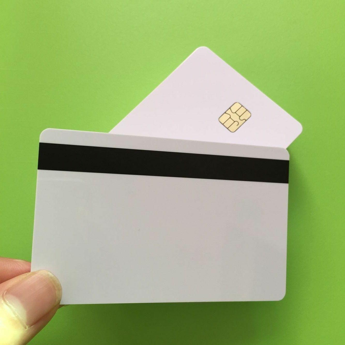 10 * Blank Smart Card Sle4442 Chip+Magnetic Strip Hico 3 track Inkjet PVC