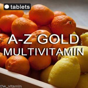 A-Z-GOLD-MULTI-VITAMINS-90-tablets-1-per-day-FREE-P-amp-P