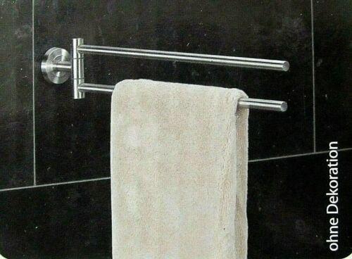 2-Arm Handtuchstange Edelstahl 49,5cm kleben oder schrauben