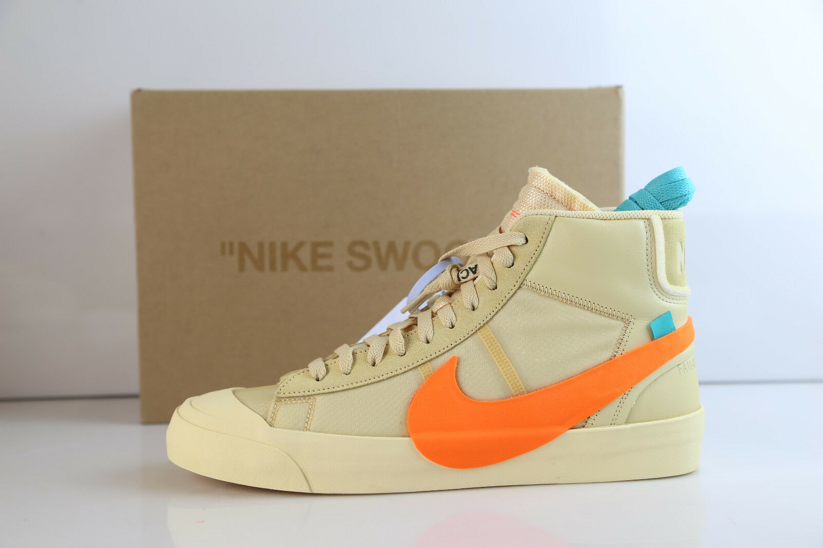 Nike Blazer Mid Off-White Virgil Hallows Eve Canvas Pale orange AA3832-700 8-13