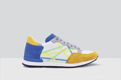 Mr Big Piel Mostaza Azul Mar Zapatos Hombre Zapatillas L4K3 con Cuerdas | eBay