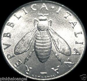 Italy  Italian 2 Lire Coin  Honeybee