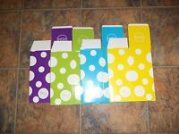Mcm Set Of 4 Cardboard Gift Boxes W/dots -