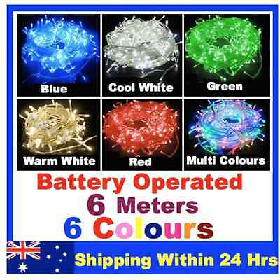 6M 40 LED Battery Operated  String Fairy Lights White Mix Colour Garden Party