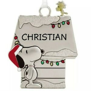Hallmark-CHRISTIAN-Peanuts-Snoopy-and-Woodstock-Christmas-Charm-Ornament-New