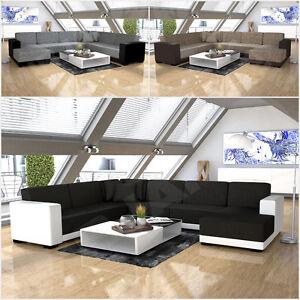 Eckcouch Ecksofa Como Design Sofa Couch Big Sofa Wohnlandschaft ...