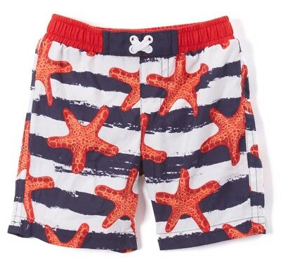 Boys SOL swimsuit 3-6-9-12-18 2T NWT red white blue nautical July 4th swim trunk
