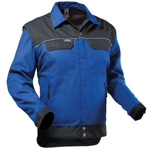 Details zu PFANNER StretchZone Canvas Jacke blau schwarz Jacke Arbeit Bau Arbeitsjacke