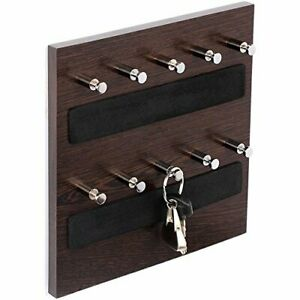 Wooden Key Holder Wall Mounted 10 Hooks
