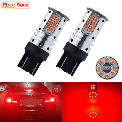 2 x T20 W21//5W 3030 Chips 20-SMD LED Bright Red Car Brake Light Driving For Lamp