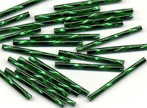 100pcs Czech Crystal Bugle Loose Glass Beads Jewelry Making Craft 30mm