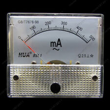 AC 500mA Analog Ammeter Panel Pointer AMP Current Meter Gauge 85L1 0-500mA AC