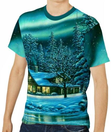 S M L XL 2XL 3XL aao40523 Aurora Borealis Herren T-Shirt Tee Gr