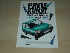 51453) Seat Marbella green black blue Prospekt 01/1991