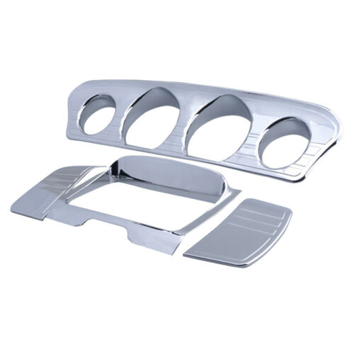 Chrome Speedometer Stereo Accent Trim Cover for Harley Street Glides 14-18