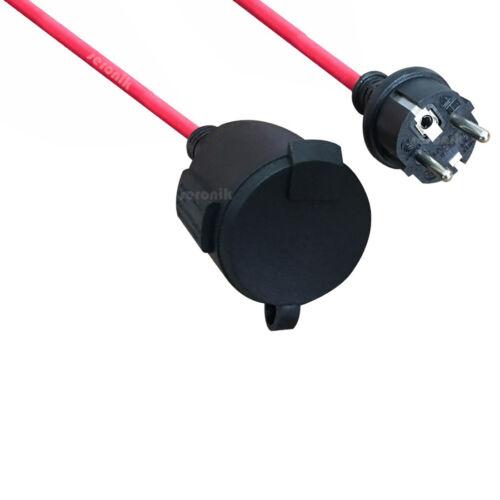 Cable alargador exterior electricidad Cables prórroga jardín ip44 h05rr-f 3g1.5 rojo