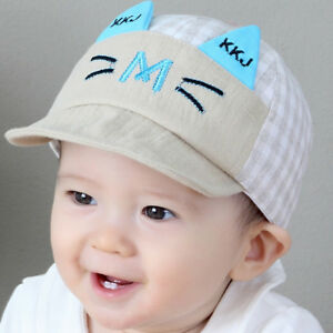 e92a6ced0 Cotton Hat Boys Girls Cute Cartoon Printed Embroidery Hats Baby ...