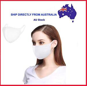 Unisex White Cotton Face Mask Triple Layer Warm Reusable Ebay