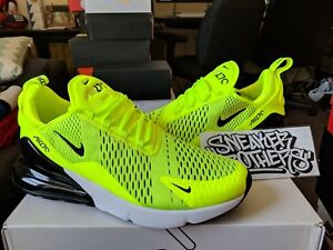 3534dc3224f Nike Air Max 270 Volt Black Dark Grey White Neon Yellow Running ...