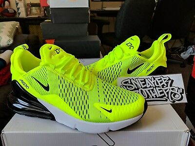 more photos e3634 9ca27 Nike Air Max 270 Volt Black Dark Grey White Neon Yellow Running Men's  AH8050-701 | eBay