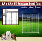 1.5x.1.8M Heavy Duty Pet Enclosure Gate Panel Fencing Outdoor Dog Run Playpen