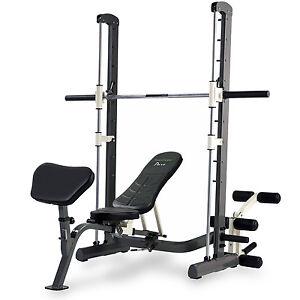 Tunturi Pure Compact Smith Machine Adjustable Weight Bench