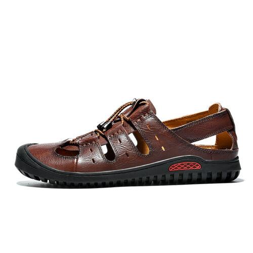 Roman Mens Closed Toe Sports Flats Breathable Walking New Beach Sandals Shoes L