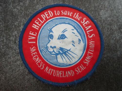 L24S Skegness Natureland Seal Sanctuary Cloth Patch Badge