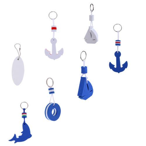 2pcs Boat Boating Floating key chain Marine keychain Sailing Ship Surfboard