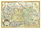 Landkarte. Die Länder Thüringen und Sachsen 1570 von Abraham Ortelius (2001, Mappe)