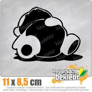 Sleepy-panda-10-x-9-cm-JDM-decal-Sticker-Adhesivo-racing-disco-coche-car-blanco