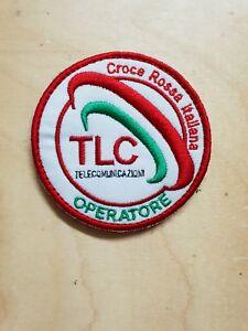 PATCH RICAMO TOPPA - CROCE ROSSA ITALIANA - NUOVO - OPERATORE T.L.C. con Strappo
