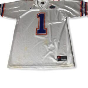 Nike Team FLORIDA GATORS Large White Football Jersey #1 | eBay