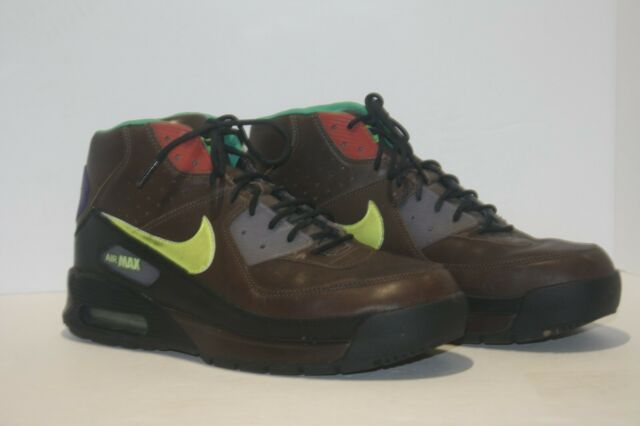 NIKE AIR MAX 90 SNEAKER BOOTS BROWN LEATHER Size 10 (316339