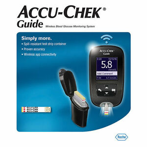 Accu Chek Guide Wireless Blood Glucose Meter Monitor Kit