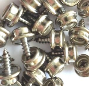 75 PRO BOAT MARINE CANVAS COVER STAINLESS STEEL SCREW IN CANVAS SNAP STUDS 3//8/""