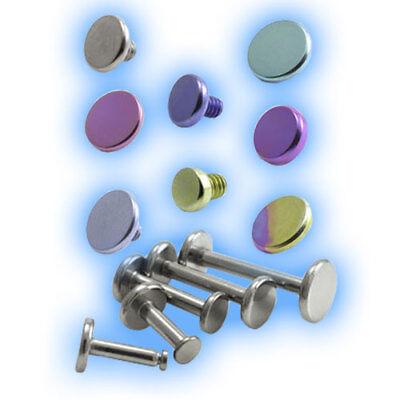 18mm Titanium Jewelled Labret 1.2mm 16g Pink Grade 23 UK Choose Gem Size 6mm