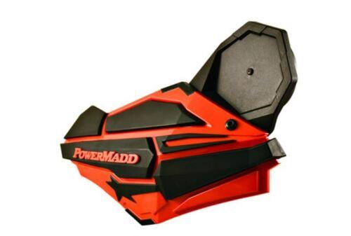 Powermadd Sentinel Handguard Fixed Fold In Mirror Kit ATV MX Snow Snow Mobile