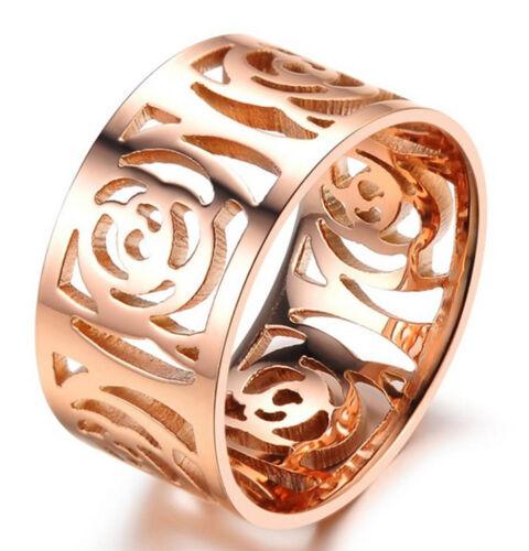 Anillo de ancho señora joyas rotgold PL acero inoxidable anillo de bodas compromiso regalo nuevo
