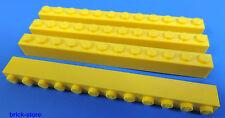 LEGO Nr- 4271082 / 1x12 Bloque de construcción base amarillo / 4 Piezas