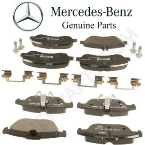 For Mercedes X204 GLK250 GLK350 Front /& Rear Brake Pad Sets Kit w// Shims Genuine