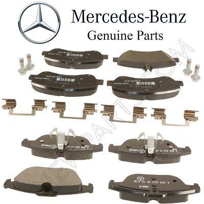 For Mercedes X204 GLK250 GLK350 Front Brake Pad Set w Sensor /& Shims Kit Genuine