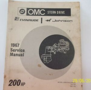 omc stern drive 1967 service manual ebay rh ebay ie OMC Sterndrive Lubrication OMC Sterndrive 800