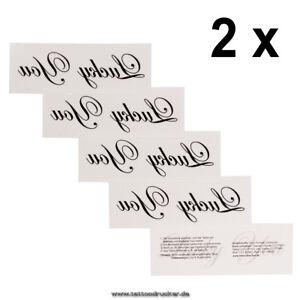 2 X Lucky You Tattoo Schriftzug In Schwarz Sexy Kinky Party