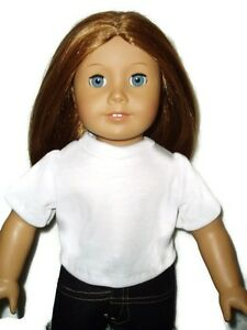 White-T-Shirt-18-inch-Doll-Clothes-fits-American-Girl-Dolls-Handmade