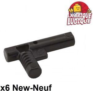 Lego - 6x Minifig utensil pistolet gun noze nozzle noir/black 60849 NEUF