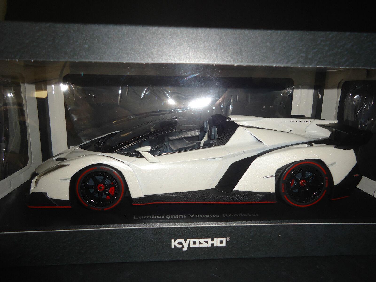 Kyosho Lamborghini Veneno Roadster Blanc Scellé Corps 09502wo 1 18