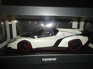 Blanc Kyosho 1 09502wo 18 Scellé Veneno Lamborghini Roadster Corps rAvAtw